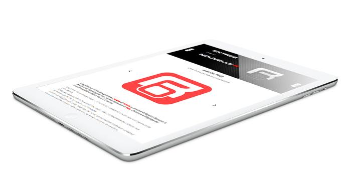 Affichage R6 sur tablette