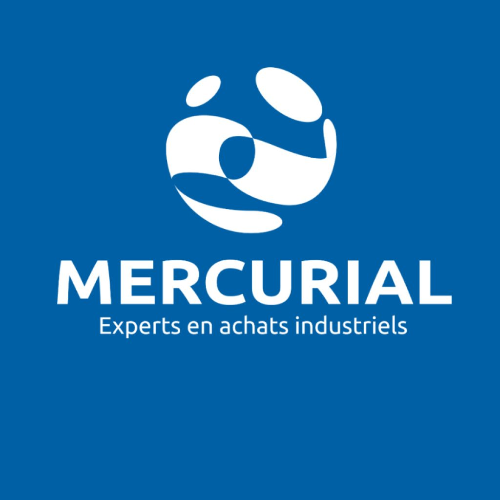mercurial logo blanc baseline