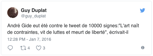 capture tweet andré gide