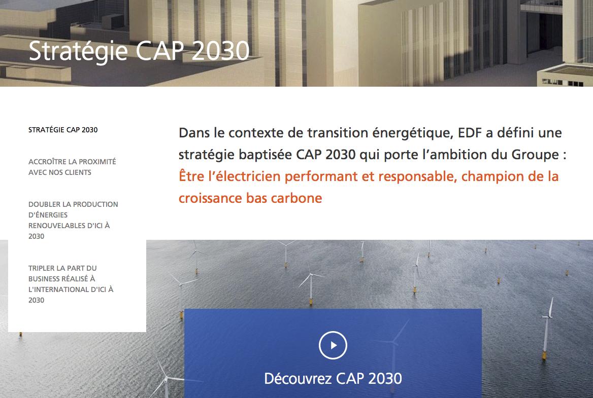 stratégie cap 2030 edf