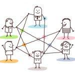 groupe de gens connectés