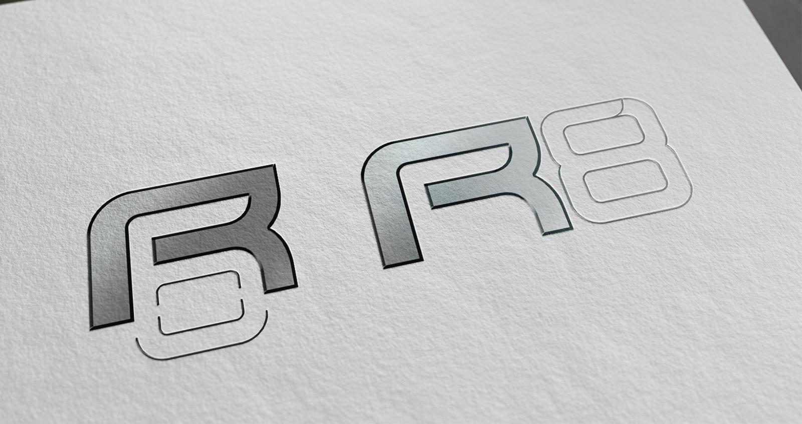 logo R6 slide gris