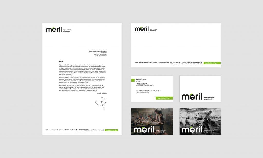meril branding papeterie