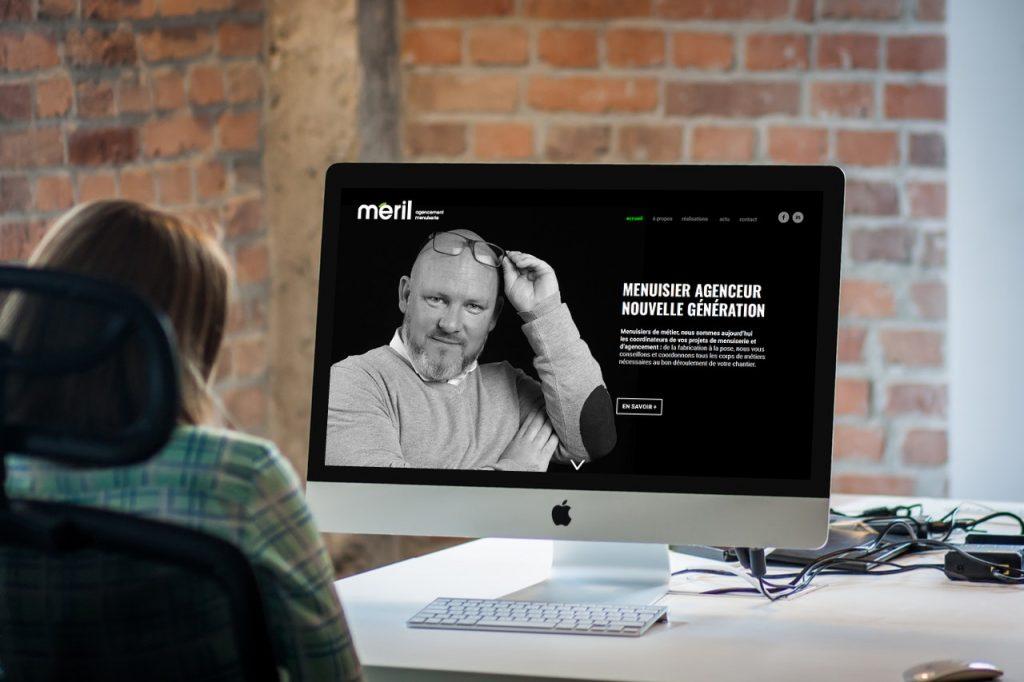 maquette site web meril