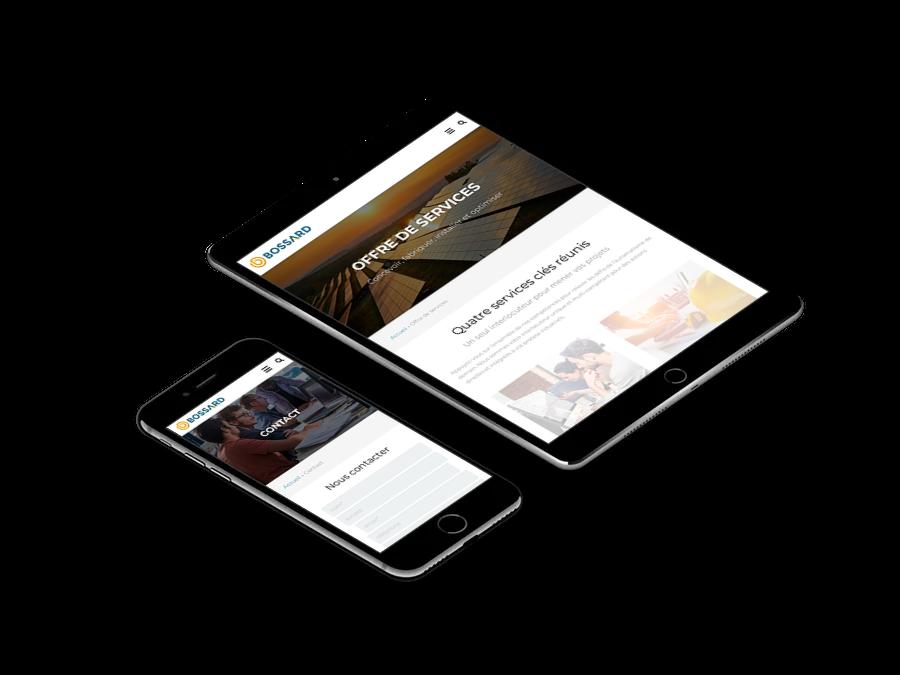 site web Bossard responsive