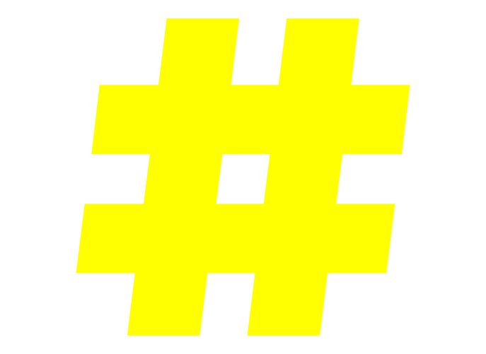 bicom-identite-image-marque-hashtag-symbole-jaune