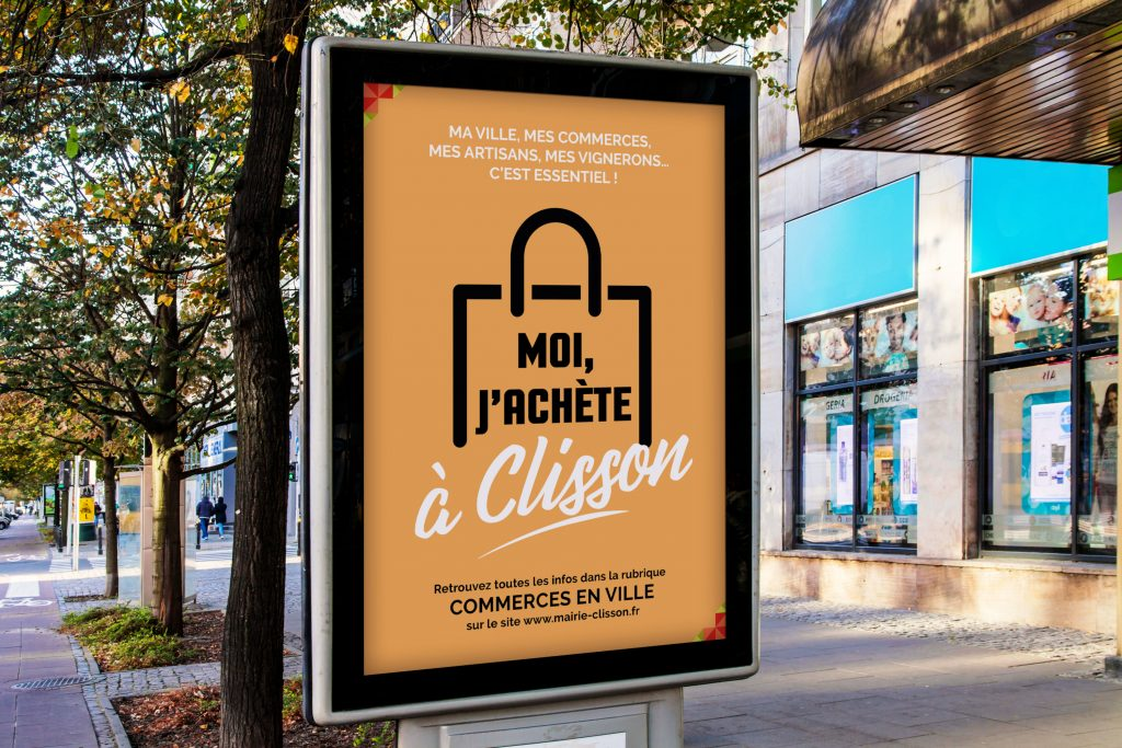 Mock-up de la campagne de communication pour Clisson