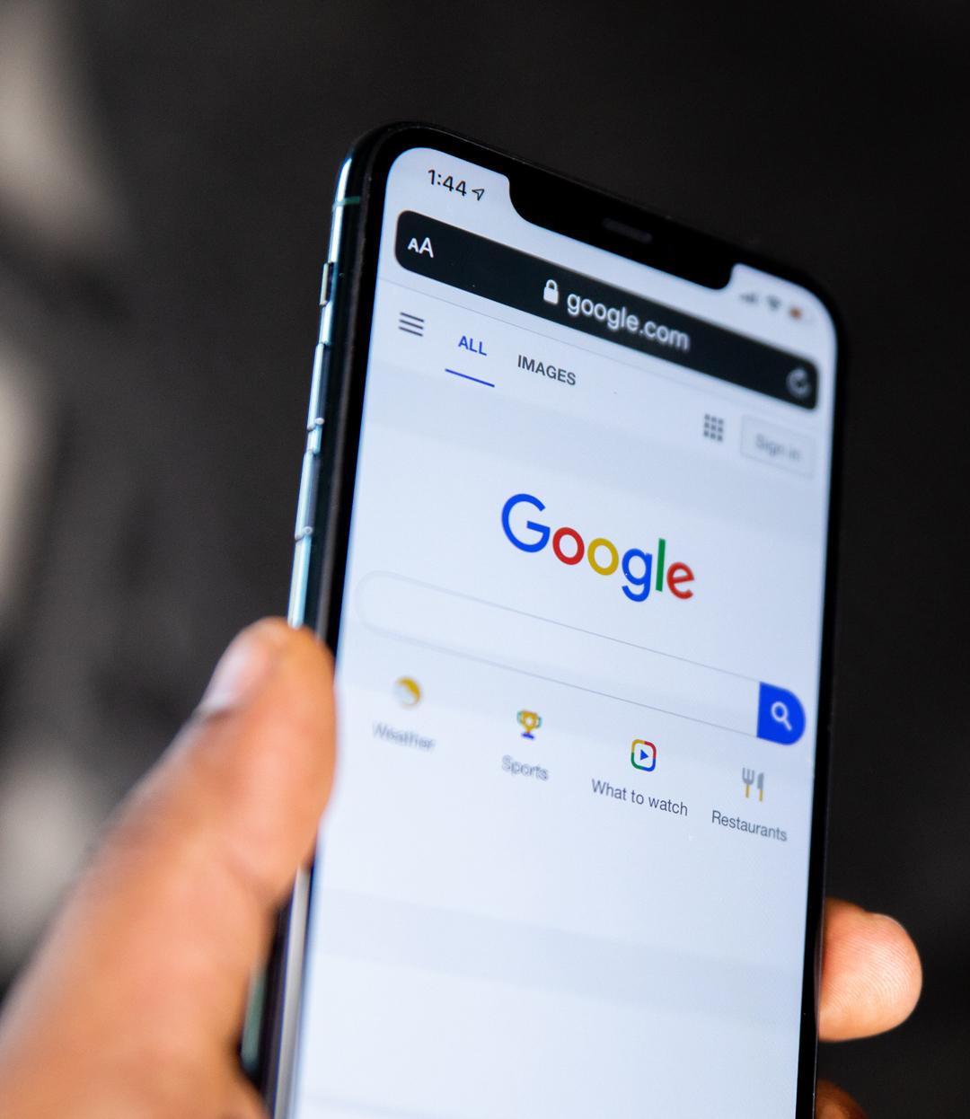 Google sur un smartphone